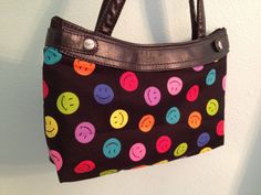Purse Skirt  Product 31 Smiley faces by QuiltedNStitched on Etsy, $12.00