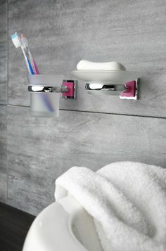 1000 images about colors in the bathroom on pinterest for Pink grey bathroom accessories