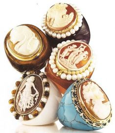 Hand-Carved Cameo Jewelry ~GirlieGirl Army