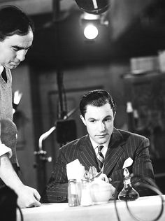 """deforest: """" Gene Kelly and director Busby Berkeley on the set of For Me and My Gal (1942) """""""