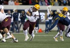 Arizona State Sun Devils running back Demario Richard (4) carries the ball against the California Golden Bears during the third quarter at Memorial Stadium. The California Golden Bears defeated the Arizona State Sun Devils 48-46.  #8960654