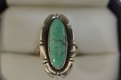 B Piaso Jr Turquoise Navajo Indian Southwestern Sterling Silver Size 5 3/4 Ring
