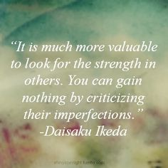 look for strength in others