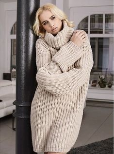 Sweater Dresses, Cardigan Sweaters For Women, Long Cardigan, Wool Sweaters, Knit Dress, Sweater Cardigan, Brown Sweater, Turtleneck Outfit, Turtle Neck