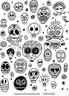 Google Image Result for http://image.shutterstock.com/display_pic_with_logo/278908/278908,1252942638,1/stock-vector-day-of-the-dead-pattern-37044562.jpg