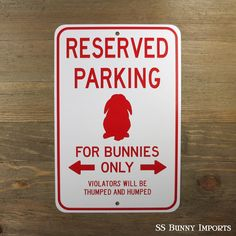 New lop bunny reserved parking design added to the shop! #ssbunnyimports