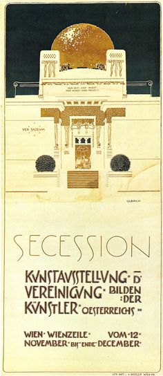 vienna4u:  Exhibition poster by Joseph Maria Olbrich for the Vienna Secession, 1898 or later.