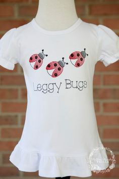 Mellow Marsh Frills embroidery and applique Custom Embroidery, Lady Bug, Bridal Accessories, No Frills, Kids, Etsy, Clothes, Shopping, Women