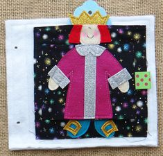 Lift the flap to see what the emperor is wearing! Once Upon a Time #Felt #Quiet Book .PDF Pattern...cute!