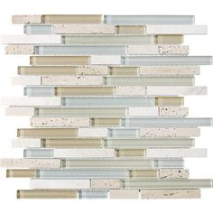 Anatolia - Spa Glass Stone Linear Blend Mosaics - 35-009 - Home Depot Canada