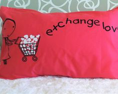20R-  Exchange Love to Be continued .  Bed Pillow Cases / Covers by karmabcn. Explore more products on http://karmabcn.etsy.com