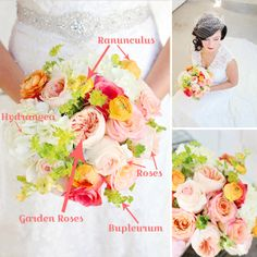 Bouquet Breakdown: Sweet n' Summery Bridal Bouquet! I love the soft, summery citrus hues with just the perfect pop of pink… It just makes me so happy! See the Full Breakdown Here: http://blog.fiftyflowers.com/bouquet-breakdown-sweet-n-summery-bridal-bouquet/
