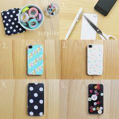 vanilla craft blog: iPhone Case Decorating