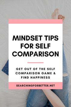 How To Stop Comparing Your Life To Others. These simple mindset tips are great to help you stop comparing your life to others and develop a healthier mindset. It helps us learn how we can be better for ourselves and not compare our lives to others. Have Faith In Yourself, Learning To Love Yourself, Comparing Yourself To Others, Self Appreciation, Stop Comparing, Self Development, Personal Development, Postive Quotes, Negative Self Talk