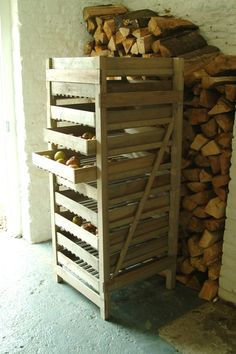 Large Drying or Storage Rack  I'd love to have a cellar with all my canned foods on shelves, firewood piled along the walls, and a drying rack filled with herbs and fruits from my gardens.  And of course all the prepper gear stashed away too.