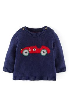 Free shipping and returns on Mini Boden Sweater (Baby Boys) at Nordstrom.com. A red-hot racecar stays warm on the front of a knit sweater spun with a touch of supersoft cashmere.
