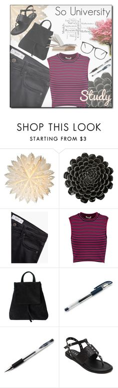 """University"" by hirw ❤ liked on Polyvore featuring Cultural Intrigue, DAY Birger et Mikkelsen, MANGO, A.L.C. and Uni-ball"