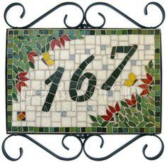 Estúdio Joe & Romio mosaicos: Modelos 20x30cm - Número com mosaico