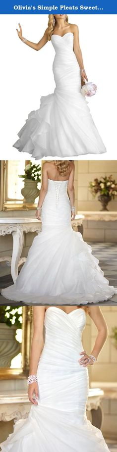 Olivia's Simple Pleats Sweetheart Corset Mermaid Wedding Gowns 2016 Cheap Bridal Dresses. 1,You Can Choose US Standard Size.If You Want the Dress Fit You Perfect ,Leave us your Exact measurement as list. a. Bust:___ b. Waist:____c. Hip:____d. shoulder to shoulder:___e. Waist to floor:____f. Height:____g. shoes high:____(Inch) 3 .Welcome to Click the Olivia's on the top of the title to visit our shop !.