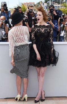 In Honor of Awards Season, 48 Times Celebrities Really Struggled with Their Fancy Clothes It's not easy dressing in couture all the time. Even our favorite celebrities have had outfit mishaps or wardrobe malfunctions. Here, we rounded up some hilarious photos of celebrities struggling with their runway-worthy ensembles—while still looking fabulous! Parker Posey and Emma Stone looked swept away!