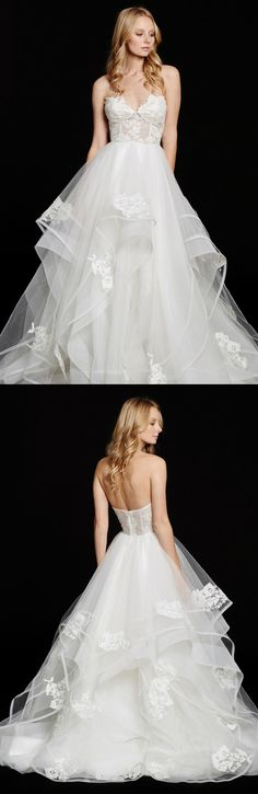 Haley Paige Chantelle' Strapless Lace & Tulle Ballgown is the perfect wedding dress