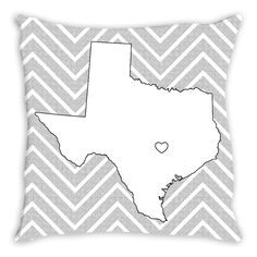 Heart of Texas Coloring Pillow By Tinge & Hue