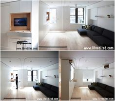 LifeEdited - livingroom, two bedrooms & office in one! - a nice prototype #tinyApartment for inner-city living. #lifeedited
