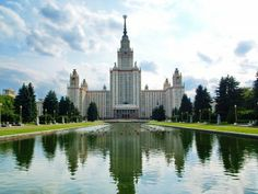 The main building of Lomonosov Moscow State University in Russia dates back to 1953. It's the world's tallest university building at 787 feet — that's 36 stories — and houses a 1,500-seat auditorium, seminar rooms, a library, and a museum.   Read more: http://www.businessinsider.com/coolest-university-buildings-2014-2?op=1#ixzz2uRmGC7m8