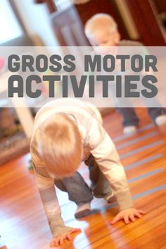 Lots of fun gross motor activities for kids - Kiddos at Home Motor Skills Activities, Movement Activities, Gross Motor Skills, Sensory Activities, Physical Activities, Learning Activities, Preschool Activities, Therapy Activities, Early Learning