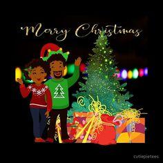 African American Couple Christmas