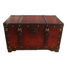 Phat Tommy Old School Decorative Trunk - THIS IS GOING TO BE MY HARRY POTTER BOOK TRUNK!!!! <3