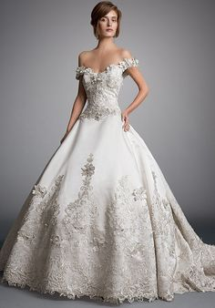 A beautiful gown for Matthew's little princess ~ theknot.com