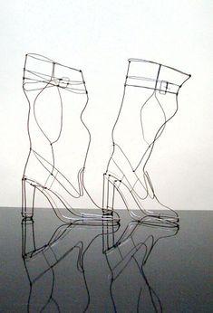 Sculptures de fil de fer pour de grandes marques de la mode et du design - Marie Christophe