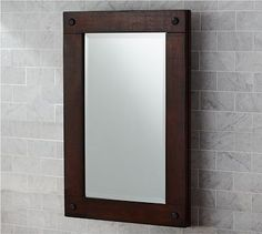 Benchwright Recessed Medicine Cabinet looks like an easy hack with a couple of 1 x 2 strips, glass adhesive and dowel pieces. Wall Mounted Medicine Cabinet, Vintage Medicine Cabinets, Mahogany Stain, Bathroom Storage, Bathroom Ideas, Bath Ideas, Single Sink Vanity, Bathroom Interior Design, Bathroom Renovations