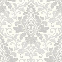 282730-Arthouse-Opera-Mozart-Silver-Damask-Wallpaper b and m bargains!