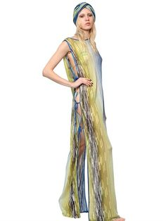 MISSONI - VISCOSE KNITTED LONG DRESS