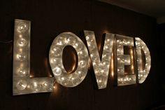 Letters Met Licht : Beste afbeeldingen van wedding trends light up letters