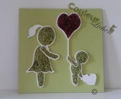 Décoration en lichen pour la chambre d'enfant, tableau végétal de Couleur lichen. : Chambre d'enfant, de bébé par couleur-lichen