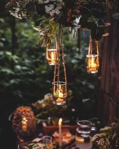 """silvaris: """"Candlelight setting, photo by andrrresky """" Cottage Wedding, Romantic Cottage, Autumn Aesthetic, Night Aesthetic, Outdoor Fairy Lights, Twinkle Lights, Pretty Wallpapers, Light Photography, Rustic Photography"""