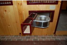 Swing out feed door with supplement storage! Genius.