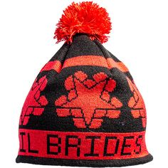 Black Veil Brides bobble hat, official band headwear, BVB merch UK ($25) ❤ liked on Polyvore
