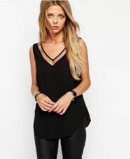 >> Click to Buy << New Arival V-neck Mesh Splicing Women's Blouses Sleeveless Chiffon Vest Blusas Feminina Verao Cool Cozy Clothes For Women   #Affiliate