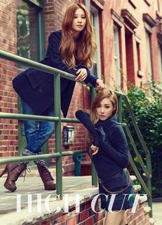 Tiffany and Seohyun on High Cut Vol.135 Issue