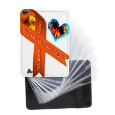 My Child Has CRPS FIre Ice Hea Leather Card Holder