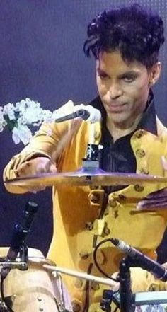 Prince on the drums