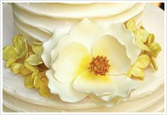 Yellow Wedding Cake Flower Decorations