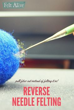 reverse barb felting needles