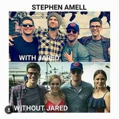 Height difference with and without Jared