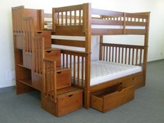 Bunk Bed Full over Full Stairway Expresso with Drawers delivered for only $1065