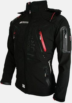 GEOGRAPHICAL NORWAY - giacca softshell giacca funzione resistente all' acqua Black - Black Small Really sharp looking jacket Tactical Wear, Tactical Clothing, Geographical Norway, Herren Style, Revival Clothing, Cool Outfits, Fashion Outfits, Cyberpunk Fashion, Herren Outfit